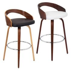 Grotto Mid-century Modern Wood Barstool | Overstock.com Shopping - The Best Deals on Bar Stools