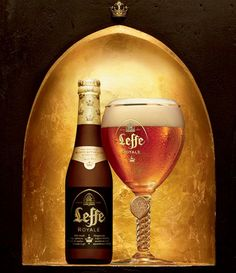 "Leffe Royale Beer packaging uses the luxury codes. The bottle is matte and the colours are black (symbol of sobriety and mystery) and gold (symbol of power and wealthy), which is really innovative in the beer sector. The words are highlighted thanks to these colours. The top of the bottle is surrounded by a gold paper with royal crown: this is linked with the name of the beer: ""Royale"". This packaging is synonym of pleasure and quality, but still accessible."