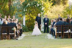 Ceremony site.  Austin Wedding Venue  Barr Mansion | 36th Street Events | STEMS Floral Design + Productions
