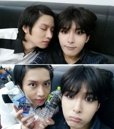Super Junior's Heechul and Ryeowook Look as Pretty as Girls in Recent Selcas