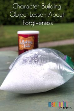 This character building object lesson about forgiveness takes a fun science experience and relates it to the risks of choosing not to forgive. Youth Group Lessons, Kids Church Lessons, Sunday School Lessons, Lessons For Kids, Lds Object Lessons, Bible Lessons, Forgiveness Lesson, Forgiveness Quotes, Bible Crafts For Kids