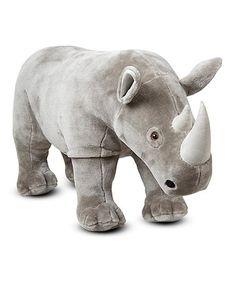 Love this Melissa & Doug Rhinoceros Plush Toy on #zulily! #zulilyfinds