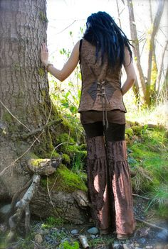 Gypsy Pants Velvet Skirted Dance Pants by IntergalacticApparel, $67.00