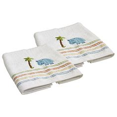 Saturday Knight Limited Safari Hippo 100 Cotton Bath Towel Set of 2 *** Learn more by visiting the image link.