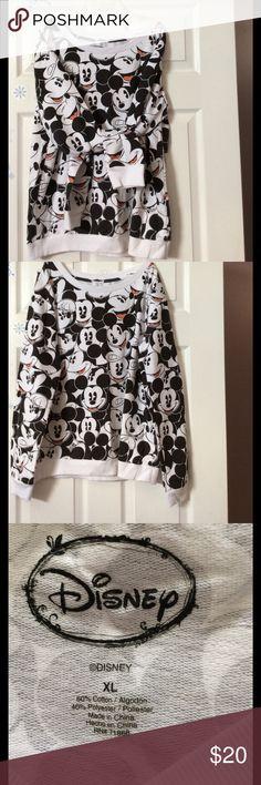 Disney Mickey Mouse sweatshirt Bring back your childhood memories with this gently worn Long sleeve, Disney trademark sweatshirt. Very comfy. Disney Tops Sweatshirts & Hoodies