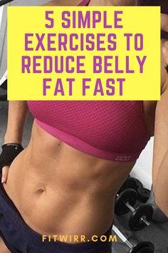 5 best tummy flattening exercises to reduce belly fat fast. Stubborn Belly Fat, Reduce Belly Fat, Burn Belly Fat, Lower Belly, Tummy Workout, Belly Fat Workout, Waist Workout, Tummy Flattening Exercises, Abdominal Exercises