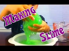 Easy Kids Science Experiments How to Make GOO SLIME GAK FLUBBER - YouTube