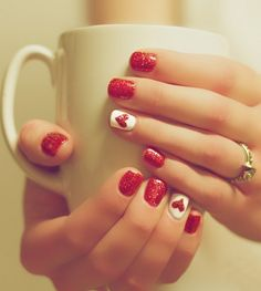 2015 Valentines Day Nail Art Designs