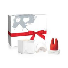 Jimmyjane Afterdark Pleasure Set The set includes the Form 2 vibrator in special edition red, Afterglow special edition candle, and a Contour M massage stone.Form 2 is a compact vibra...
