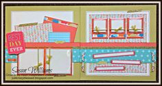 Just Crazy Blessed 'Hopscotch'  Workshop Package! Studio Sus Susan Williams, CTMH Close to My Heart Consultant Layout & Bonus Cards Workshop with Cutting guide and Consultant options! Only $25!
