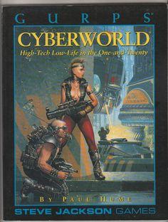 1993 GURPS Cyberworld Sourcebook. NM.  Steve by RubbersuitStudios #gurps #cyberpunk #roleplayinggames