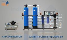 FRP RO Plant with Compressor Manufacturer, Supplier in Ahmedabad Ro Plant, Ion Exchange, Mineral Water, Water Treatment, Ahmedabad, Indian, Plants, Flora, Planters