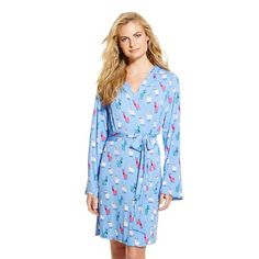 Nite Nite Munki Munki - Women& Llamas with Glasses Robe : Target The Pajama Game, Little Gifts, Nightwear, Wrap Dress, Shirt Dress, Llamas, Casual, Shirts, Clothes