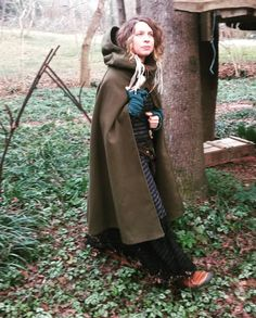 Hanging out with Earthskillians the last two years has inspired more woolen layers in my wardrobe for warmth in the winter woods, hence this hooded cloak. :::::::: To see the All in every this, To know whatever this is, is All.  I see the All in you, And you see the All in me.  #adornyoursoul #forestfashion # #walkingaltar #sacredstylist #sacredsong #wildintelligence #myathensfashion #singingalive