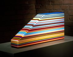 Jun Kaneko kiln formed glass Japanese born , resides in US. Works in glass, pottery, textiles, painting, you name it!