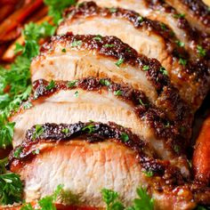 Brown Sugar Pork Loin with Carrots and Potatoes