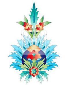 Ottoman art flowers nine