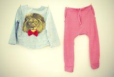 Tamer of beasts - ropa niño polera leon y sarouel marinero - Cirque Du Bebe