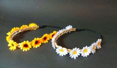 Daisy headband Plaited Synthetic Blonde by CowlingCountryCrafts