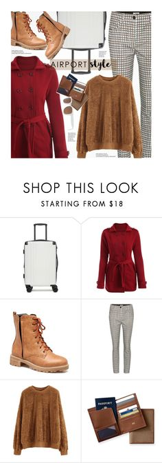 """""""Wanderlust Wonderful: Airport Style"""" by beebeely-look ❤ liked on Polyvore featuring CalPak, Miu Miu, Mark & Graham, casual, casualoutfit, airportstyle, travelinstyle and rosegal"""
