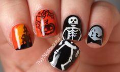 Funny bones nail design
