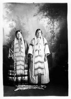 Matilda One Horn and Mrs. Eugene Yellow Lodge  Photo taken between 1900 and 1930 State Archives# 1952-2141