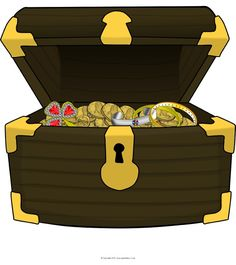 Giant Treasure Chest Picture for Display - SparkleBox Pirate Pictures, Bee Pictures, Snowmen Pictures, Rabbit Pictures, Dinosaur Pictures, Teddy Bear Pictures, Classroom Wall Displays, School Displays, Library Displays