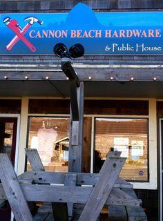 Cannon Beach Hardware.  Home of Screw & Brew. Zippertravel.com Digital Edition Cannon Beach, Oregon, Public, Hardware, Digital, Outdoor Decor, House, Home, Computer Hardware