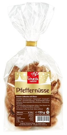 Pfeffernüsse by Linea Natura are a delicous pre-Christmas snack. \n    Using a traditional recipe, aromatic gingerbread dough coated in a delicious sugar icing. Directly out of the bag, on the cookie plate or in Santa's stocking: These delicious organic gingerbreads must not be missing during the cold season. Pre Christmas, Christmas Snacks, Marzipan, Gingerbread Dough, Sugar Icing, Natural Cosmetics, Herbalism, Cookie, Santa