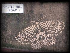 Paul Curtis – Abominable Ink by Fazooli Reverse Graffiti, Stencil Art, Stencils, Bug Art, Pirate Day, Land Art, Public Art, Urban Art, Moth