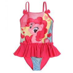 Costum de baie My Little Pony roz fuchsia My Little Pony Backpack, My Little Pony Party, Girls Swimming, Pencil Bags, Gym Shorts, Cute Bikinis, Swimsuits, Swimwear, Pink