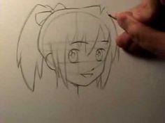 ▶ How to Draw Manga: Head Shape & Facial Features - YouTube