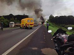 BLOG DO MARKINHOS: Batida entre moto e carreta termina em incêndio e ...