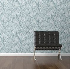 The Palms in White Removable Wallpaper Decal- WallsNeedLove