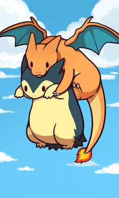 Omg is too cute typhlosion.............And charizard