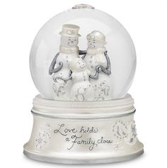 Family Love - Musical Water Globe.