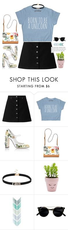 """""""sweety"""" by eoktarinda ❤ liked on Polyvore featuring Miss Selfridge, Dolce&Gabbana, Bueno, New Look and maryjanes"""