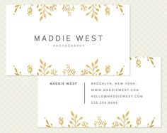 Gold Foil Business Card Design Modern Minimal Chic Elegant Branding Modern Branding Hand Drawn Floral Doodle Business Card Gilt Flower Grey