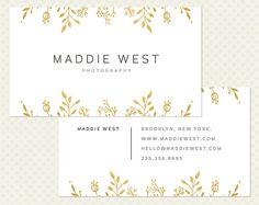 Gold Foil Business Card Design Modern by CrookedLittlePixel