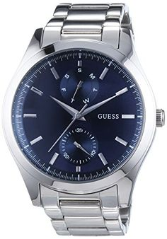 Guess Wristwatch Quartz Analog Stainless Steel -- Continue to the product at the image link. Latest Watches, Cool Watches, Guess Watches, Stainless Steel Bracelet, Quartz Watch, Omega Watch, Metal, Image Link, Stuff To Buy