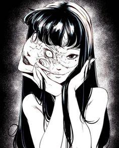Manga Anime, Manga Art, Anime Art, Otaku Anime, Japanese Horror, Japanese Art, Aesthetic Art, Aesthetic Anime, Gothic Aesthetic
