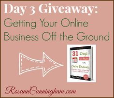 Day 3 Giveaway: Getting Your Online Business Off the Ground - Rosann Cunningham