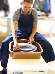 Claypron Apron, Blue - The Ceramic Shop