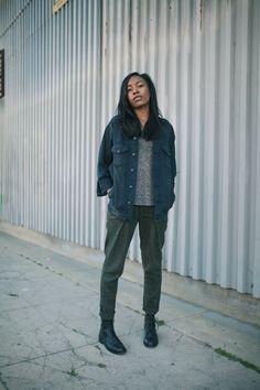 R13 jacket, Etoile Isabel Marant tee, Transit Par-Such pants, Saint Laurent boots