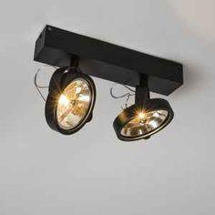 Spot Go 2 zwart lampenlicht. Ceiling Lamp, Ceiling Lights, Entry Tables, Countertop Materials, Entertainment Room, Living Room Inspiration, Track Lighting, Led Lamp, House Design
