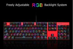 Mechanical Backlit Gamer Wired QWETY Keyboard With Backlight For PC Computer