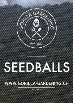 From now on online!!!  www.gorilla-gardening.ch #gorilla_gardening #seedballs #seedbombs #urbangardening #seedbomb #guerillagardening