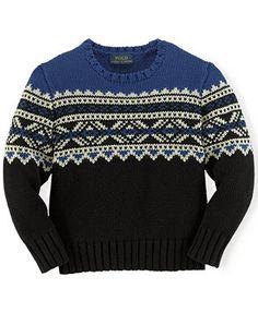 Ralph Lauren Little Boys' Colorblocked Snowflake Sweater