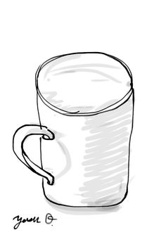"I sketched my coffee cup by iOS app ""Zen Brush""."