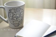 taza decorada con vinilo Mugs decorated